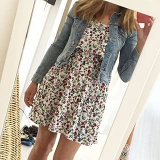 Spring love #ootd #dress #h&m #floral #liberty #spring