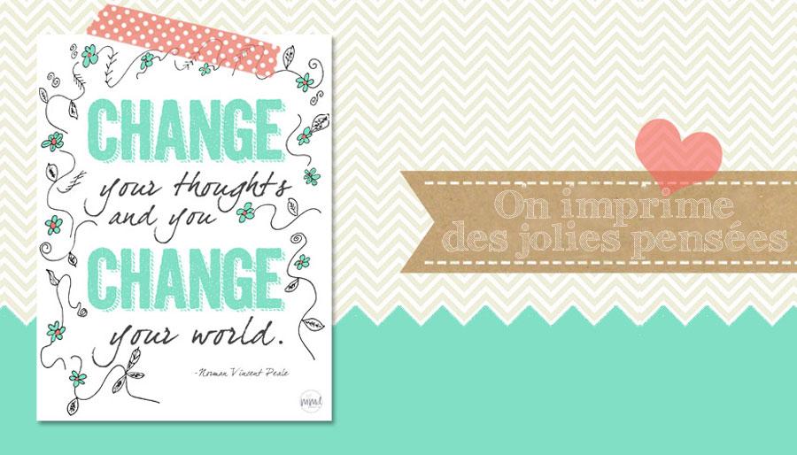 Vive La Pensée Positive à Imprimer La Vie Simple Et Jolie